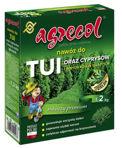 AGRECOL  Nawóz do tui i cyprysów 1,2 kg